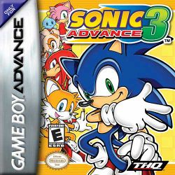 Box artwork for Sonic Advance 3.