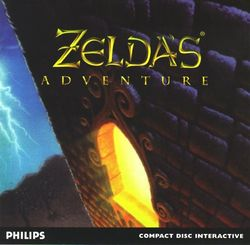 Box artwork for Zelda's Adventure.