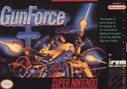 Box artwork for GunForce: Battle Fire Engulfed Terror Island.