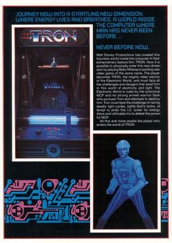 Box artwork for TRON.