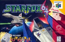 Box artwork for Star Fox 64.