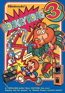 Box artwork for Donkey Kong 3.