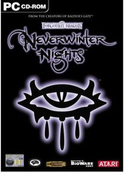 Box artwork for Neverwinter Nights.