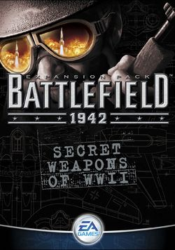 Box artwork for Battlefield 1942: Secret Weapons of WWII.