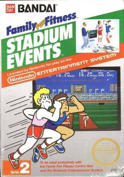Box artwork for World Class Track MeetStadium Events.