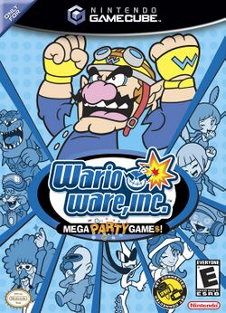 Box artwork for WarioWare, Inc.: Mega Party Game$!.