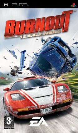 Box artwork for Burnout Legends.