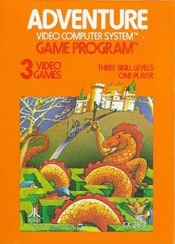 Box artwork for Adventure (Atari).