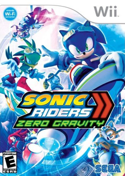 Box artwork for Sonic Riders: Zero Gravity.