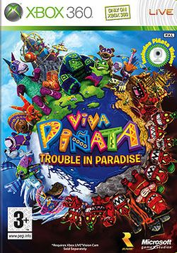 Box artwork for Viva Piñata: Trouble in Paradise.