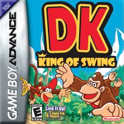Box artwork for DK: King of Swing.