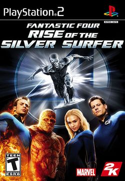 Box artwork for Fantastic Four: Rise of the Silver Surfer.