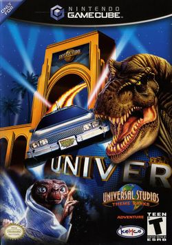Box artwork for Universal Studios Theme Parks Adventure.