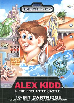 Box artwork for Alex Kidd in the Enchanted Castle.