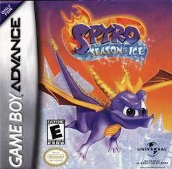 Box artwork for Spyro: Season of Ice.