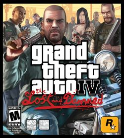Box artwork for Grand Theft Auto IV: The Lost and Damned.