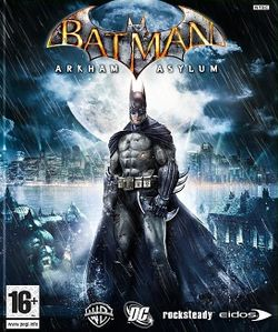 Box artwork for Batman: Arkham Asylum.