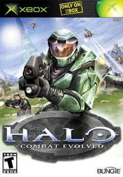 Box artwork for Halo: Combat Evolved.