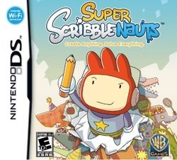 Box artwork for Super Scribblenauts.