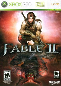 Box artwork for Fable II.