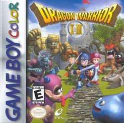 Box artwork for Dragon Warrior I & II.