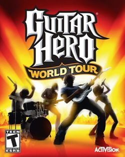 Box artwork for Guitar Hero World Tour.