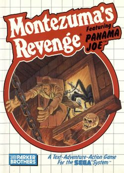 Box artwork for Montezuma's Revenge.