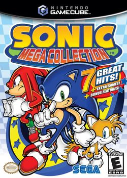 Box artwork for Sonic Mega Collection.