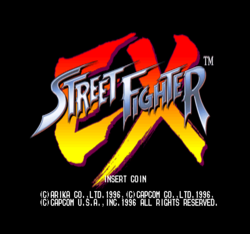 Box artwork for Street Fighter EX.
