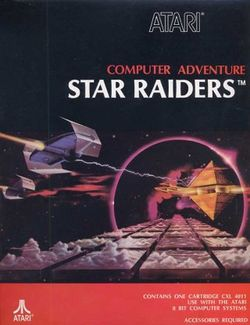 Box artwork for Star Raiders.