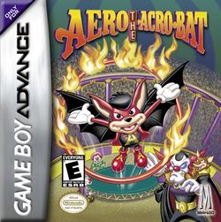 Box artwork for Aero the Acro-Bat.