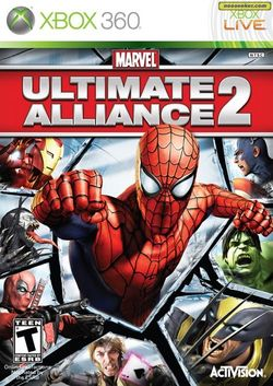 Box artwork for Marvel Ultimate Alliance 2.