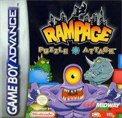 Box artwork for Rampage Puzzle Attack.