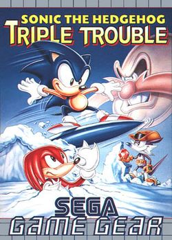 Box artwork for Sonic the Hedgehog: Triple Trouble.
