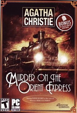 Box artwork for Agatha Christie: Murder on the Orient Express.