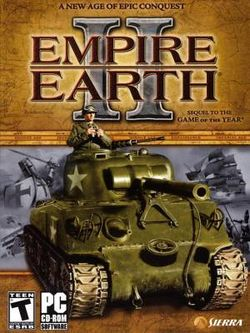 Box artwork for Empire Earth II.