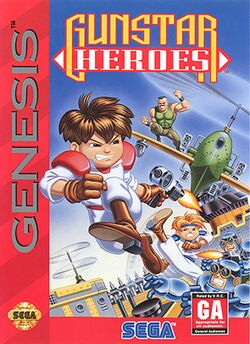 Box artwork for Gunstar Heroes.