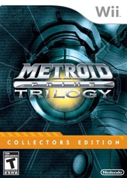 Box artwork for Metroid Prime Trilogy.