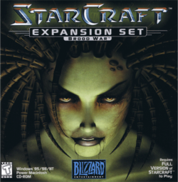 Box artwork for StarCraft: Brood War.