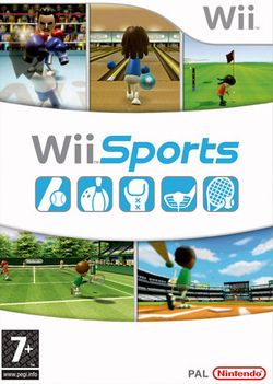 Box artwork for Wii Sports.