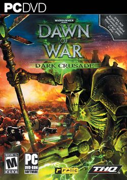 Box artwork for Warhammer 40,000: Dawn of War: Dark Crusade.