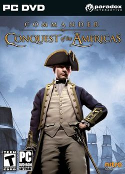 Box artwork for Commander: Conquest of the Americas.