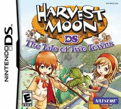 Box artwork for Harvest Moon: The Tale of Two Towns.
