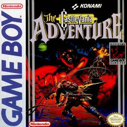 Box artwork for Castlevania: The Adventure.