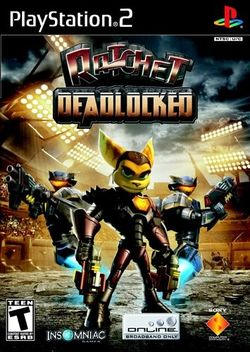 Box artwork for Ratchet: Deadlocked.