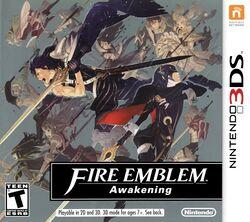 Box artwork for Fire Emblem: Awakening.