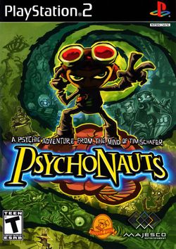 Box artwork for Psychonauts.