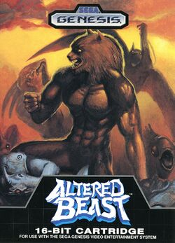 Box artwork for Altered Beast.