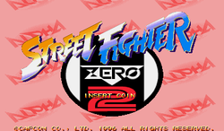 Box artwork for Street Fighter Zero 2 Alpha.