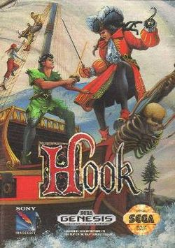 Box artwork for Hook (SNES).